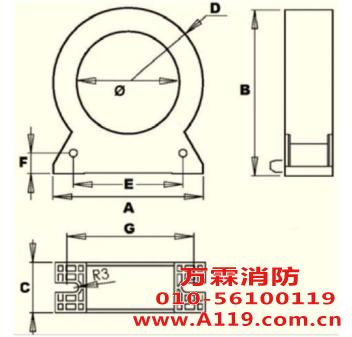 CTZ5-045 剩余电流互感器(圆形)