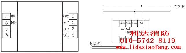 手报按钮型号及其接线示意图