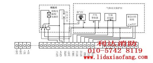 北京利达消防设备报警设备公司 接线示意图  利达 华信楼层显示器又称
